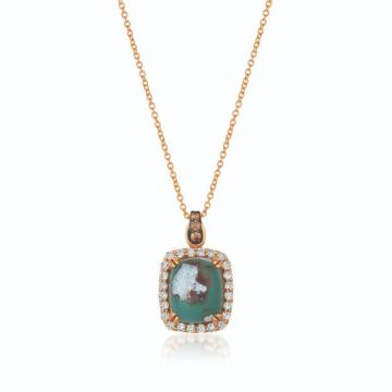 Le Vian Creme Brulee® 14k Strawberry Gold Diamond & Gemstone Pendant