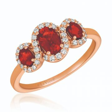 Le Vian 14k Strawberry Gold Diamond & Gemstone Ring