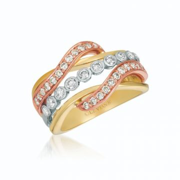 Le Vian Creme Brulee® 14k Tri-Color Gold Diamond Ring